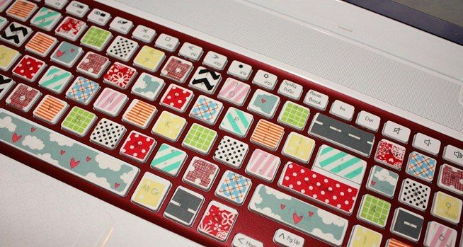 How to Organize Cords, Customize Your Keyboard, & Make Your Desk Nonslip with DIY Fabric Tape #fabrictape