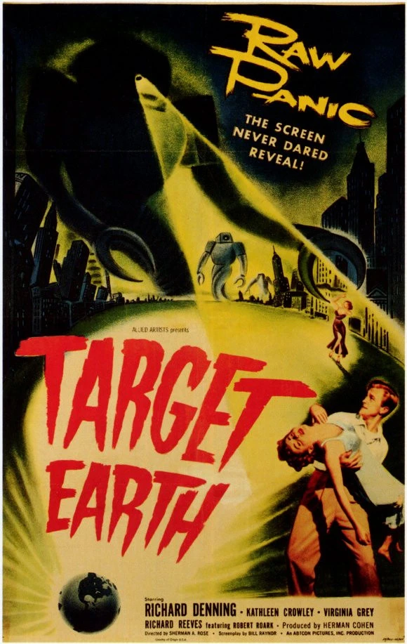 24x36 Target Earth Vintage Horror Movie Poster