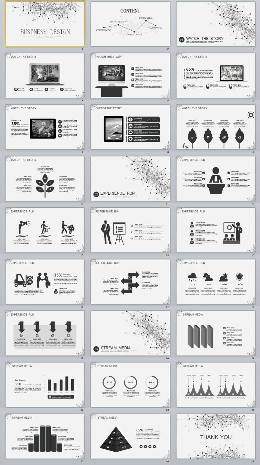 27 gray business report powerpoint templates toneelgroepblik Images