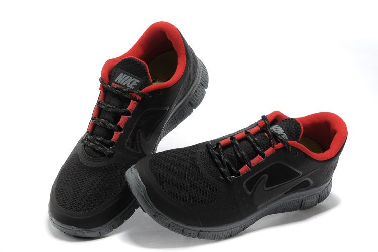 nike free run 3 black and red