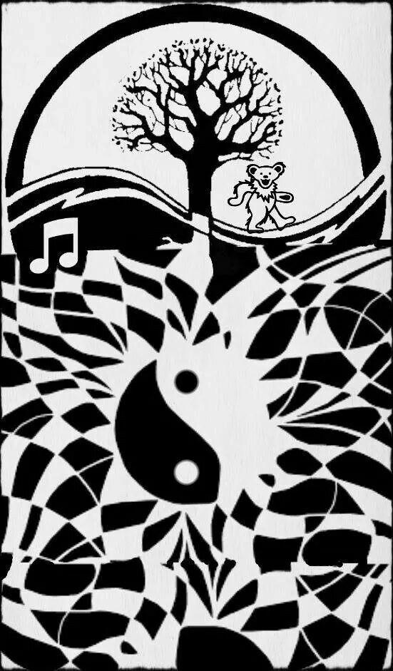American Hippie Art Grateful Dead Black Amp White Ying