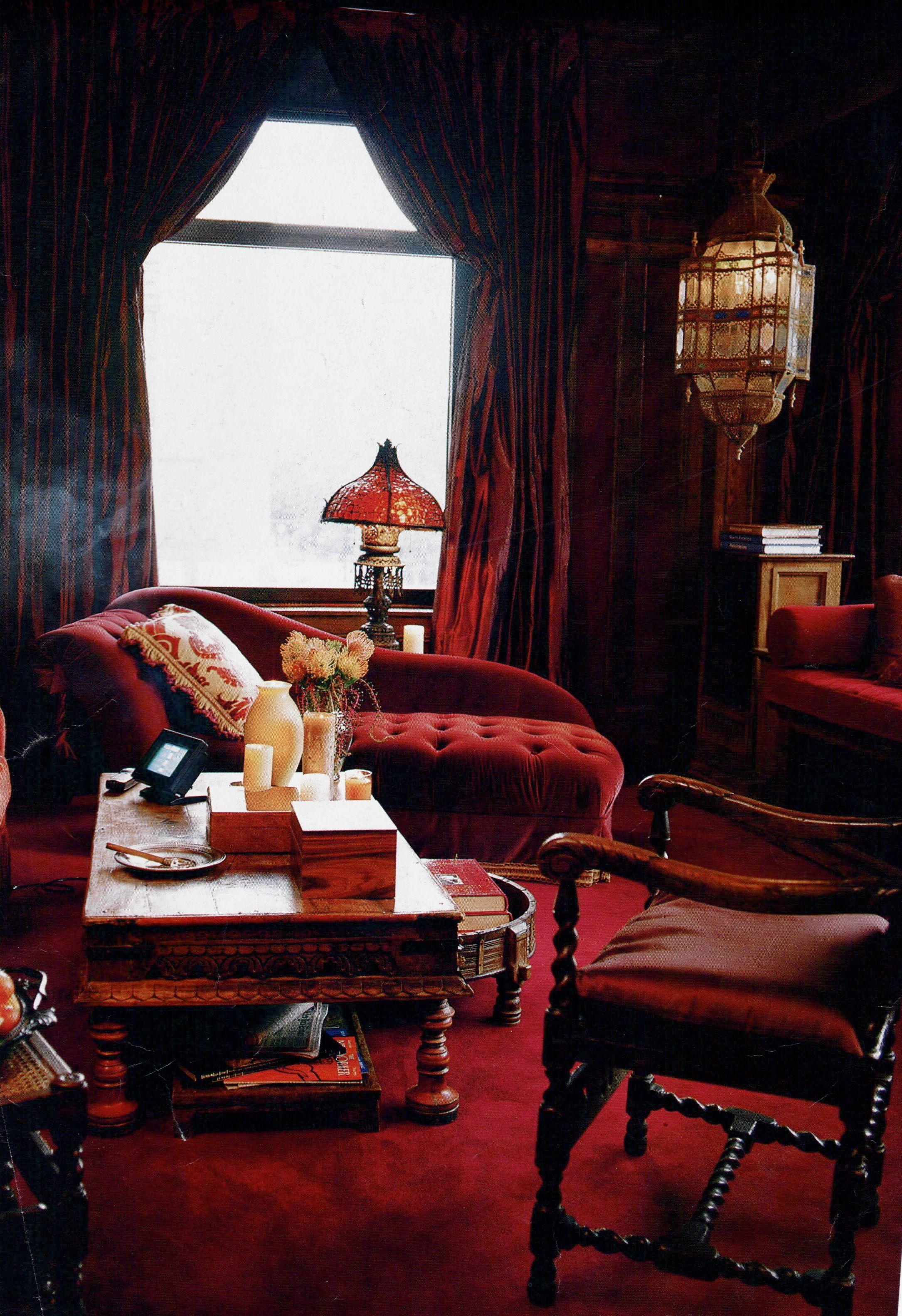 Red Velvet Room Red Decor Velvet Room Red Walls #red #and #beige #living #room