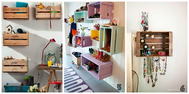 Hacer estanteria con cajas de madera reciclado - Como hacer estanterias de madera ...