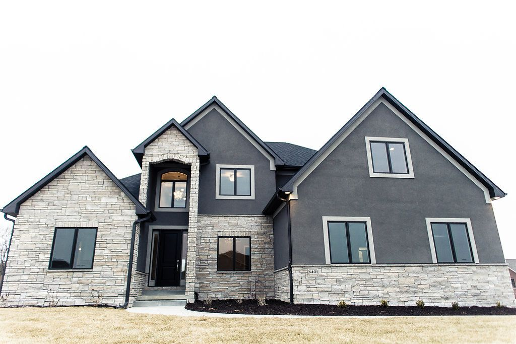 2014 Custom Home 1 1 2 Story Stone Monticello Limestone Exterior Colors Gauntlet Gray With