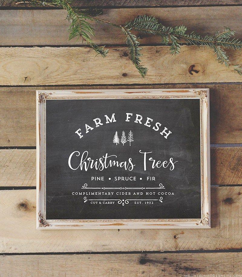 Farm Fresh Christmas Trees Christmas signs wood, Fresh