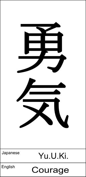 Japanese : Yu.U.Ki. / English : Courage