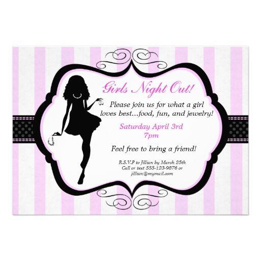 Girls Night Out Jewelry Party Invitation Zazzle Com