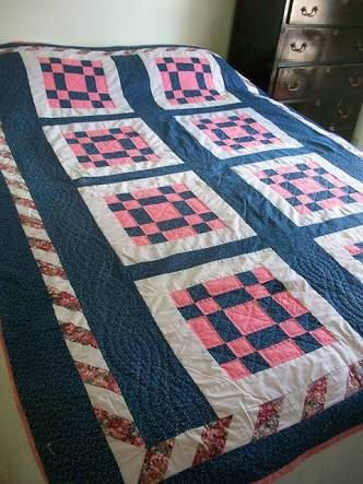 Custom Fleece Patchwork Quilt by QuiltsByDanni on Etsy