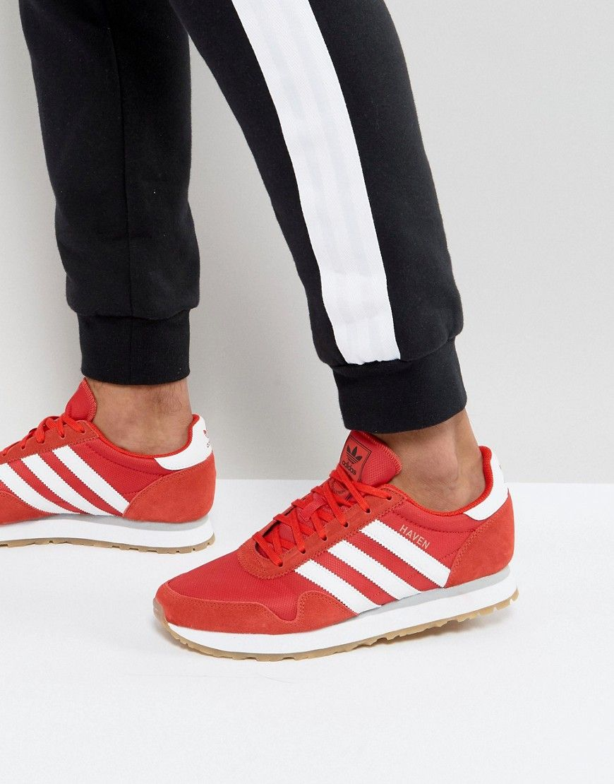 ADIDAS ORIGINALS HAVEN SNEAKERS IN RED BY9714 - RED. #adidasoriginals  #shoes #