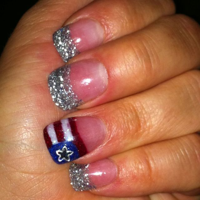 4th of july nails with acrylic