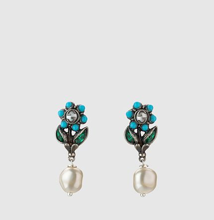41938829b5 Gucci - daisy earrings with crystals 426129I47818418 | Earrings ...