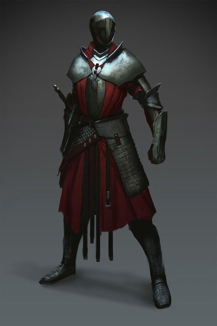 Fantasy Knight Character Art