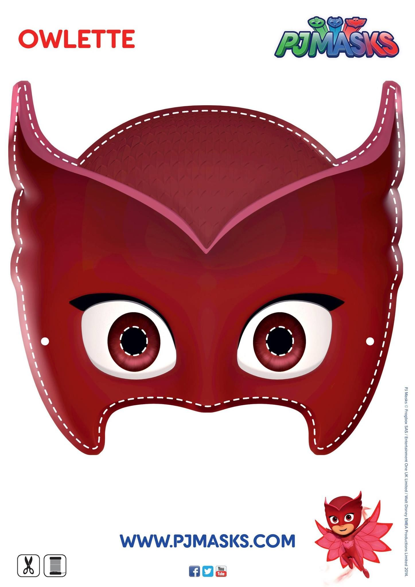It is a photo of Zany Pj Mask Template