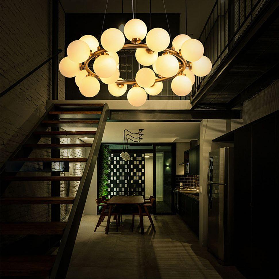 Led g nordic iron glass molecular led lamp led lightpendant lights