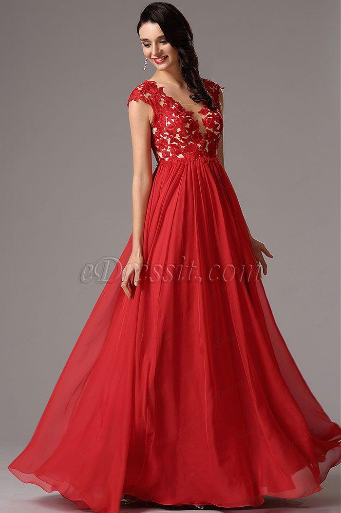 f5cece2dae1 30 Vestidos de fiesta largos en color rojo | ~ Dresses ~ en 2019 ...