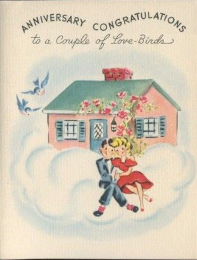 Vintage Anniversary Card Vintage Holiday Cards Vintage Christmas Cards Vintage Cards