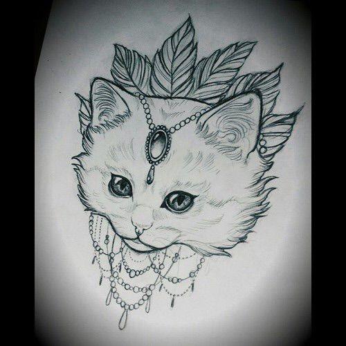 Image via We Heart It #art #cat #ink #inked #sketch #tattoo #Tattoos