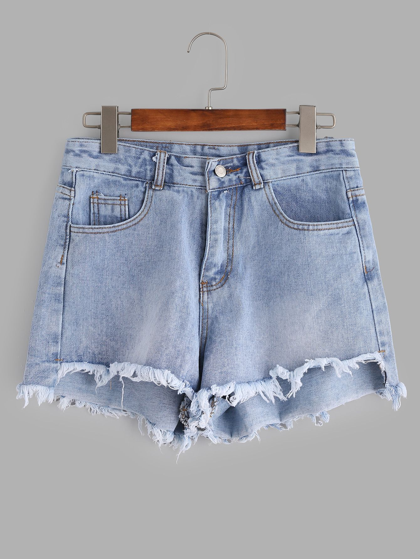 024026c060 Shop Light Blue Bleached Raw Hem Denim Shorts online. SheIn offers Light  Blue Bleached Raw Hem Denim Shorts & more to fit your fashionable needs.