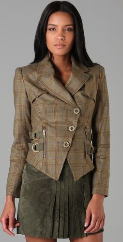 Plaid L.A.M.B. jacket, great tailoring!
