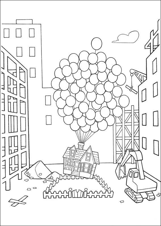 Coloring Page Up Up In 2020 Cartoon Coloring Pages Coloring