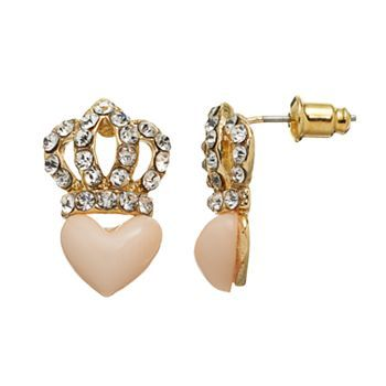 Juicy Couture Crown Heart Stud Earrings Kohls