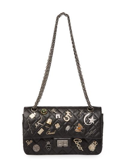 fb9fc691da65 Vintage Limited Edition Black Quilted Calfskin Lucky Charms 2.55 Reissue  Flap Small by Chanel at Gilt