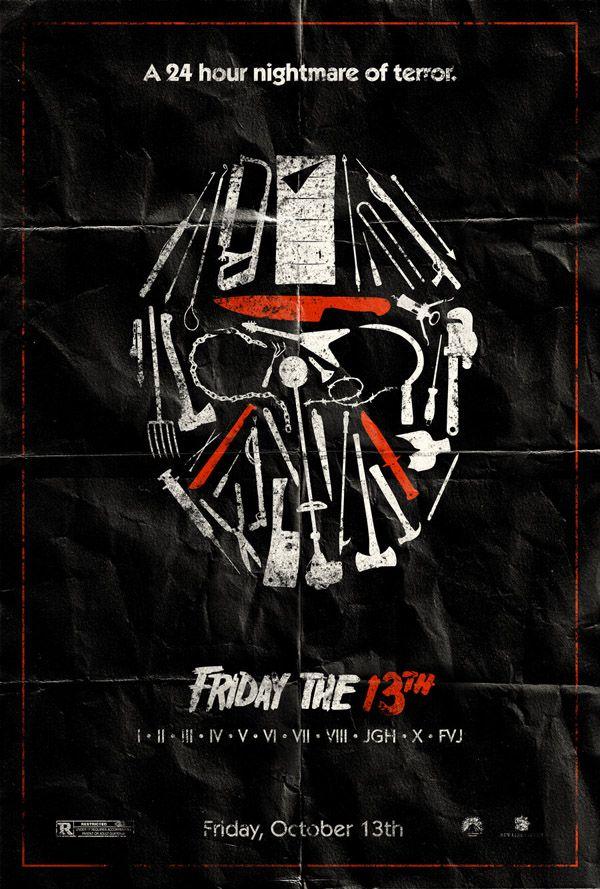 Poster Designs 25 Vintage Movie Posters Horror Movie Posters Friday The 13th Poster Movie Posters Design