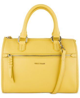 Cole Haan Antonia Solid Satchel - Handbags & Accessories - Macy's ...