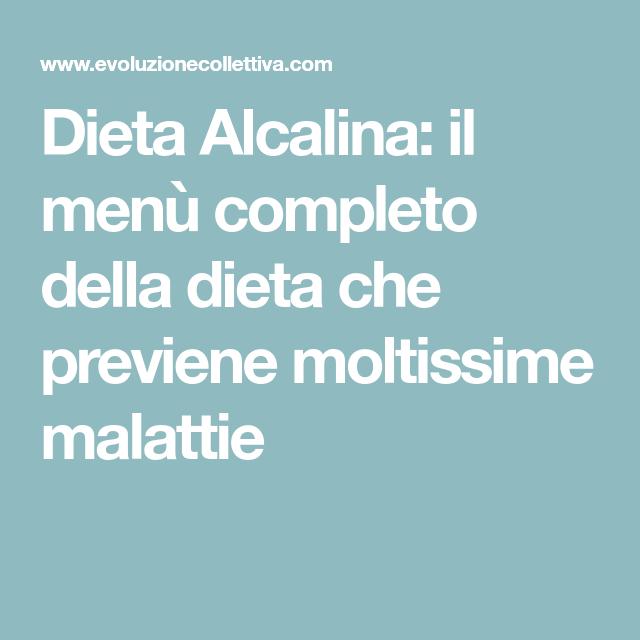 Menu dieta alcalina italiano