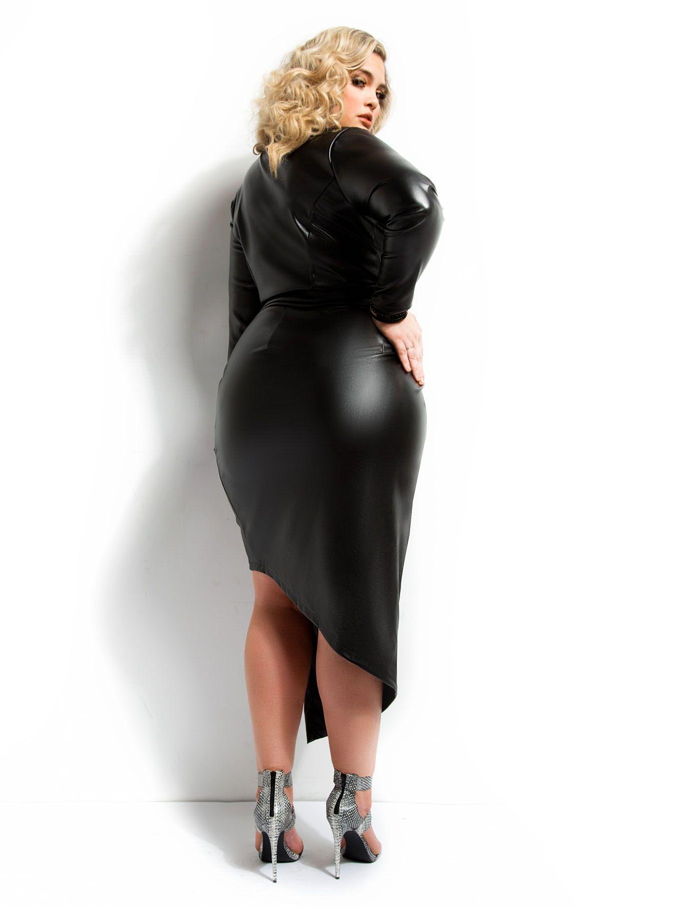 sexy #leather #dress backside.. | Curvy Women | Pinterest ...