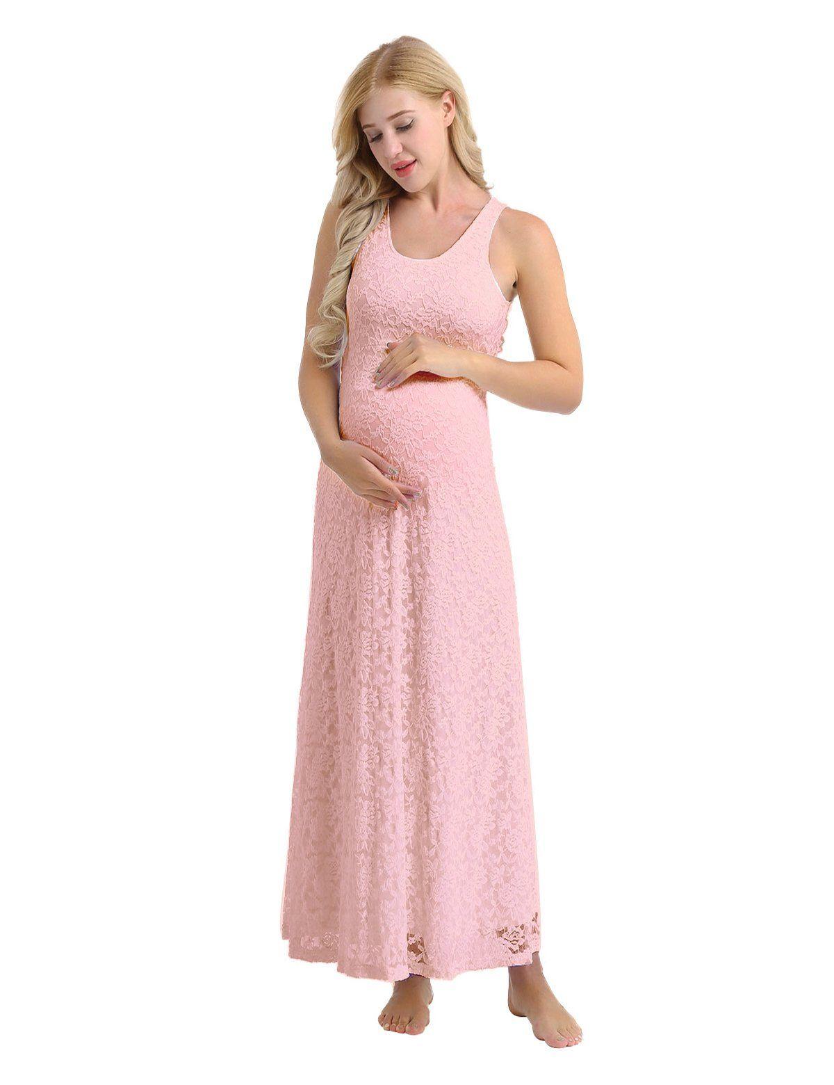 30316597838d7 Maternity Outfits - designer maternity maxi dress : YiZYiF Womens Maternity  Maxi Tank Dress Sleeveless Full Length Lace Dress Pink Large *** Discover  more ...
