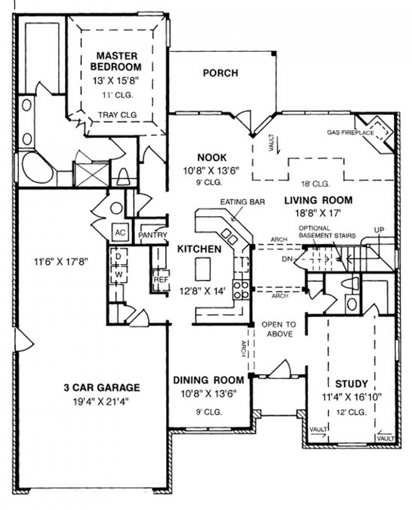#655701 - Traditional 4 bedroom 2.5 bath two story plan : House Plans, Floor Plans, Home Plans, Plan It at HousePlanIt.com
