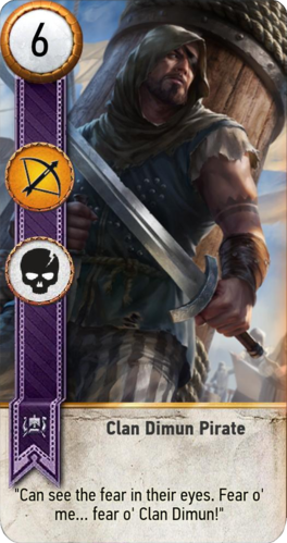 Clan Dimun Pirate (gwent card) - Witcher Wiki - Wikia