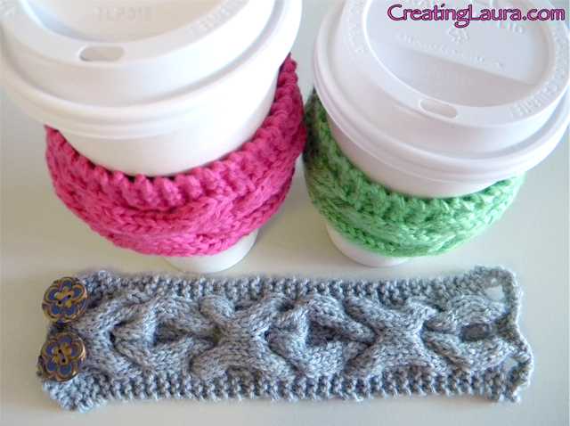 Knitted Coffee Cup Sleeve This Could Showcase Any Knitting Pattern