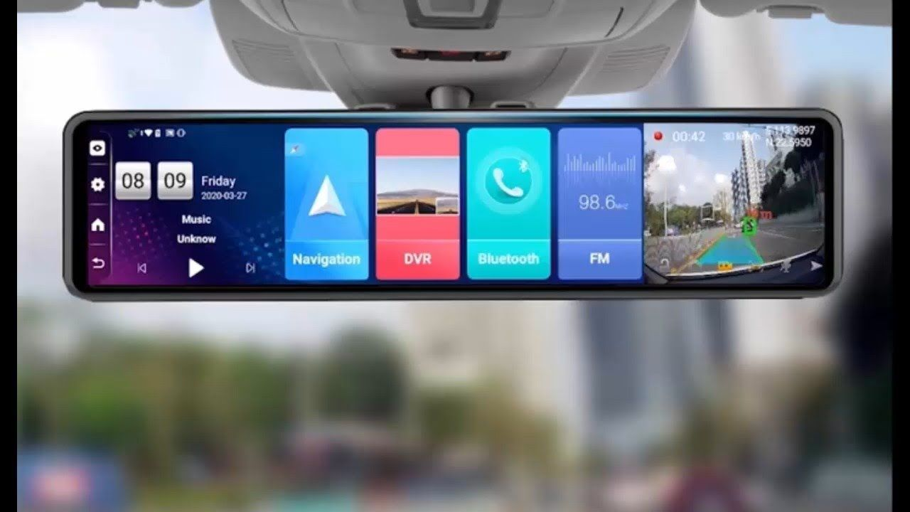 Best dash cam 4g android 81 car rearview mirror camera 12