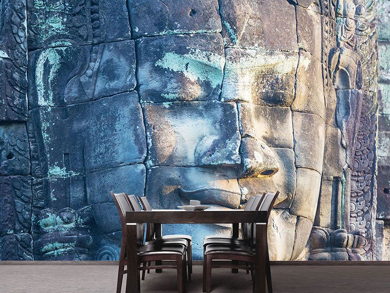 Raumansicht Esszimmer Fototapete Buddha Statur