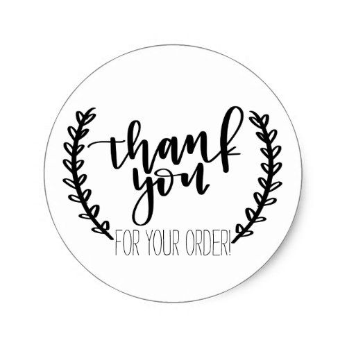 thank you for your order stickers etsy packaging. Black Bedroom Furniture Sets. Home Design Ideas