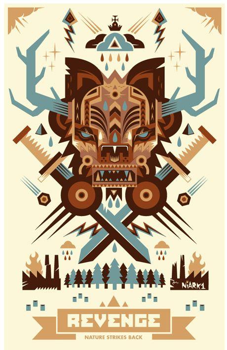 Illustration #6 by Seb NIARK1 FERAUT, via Behance