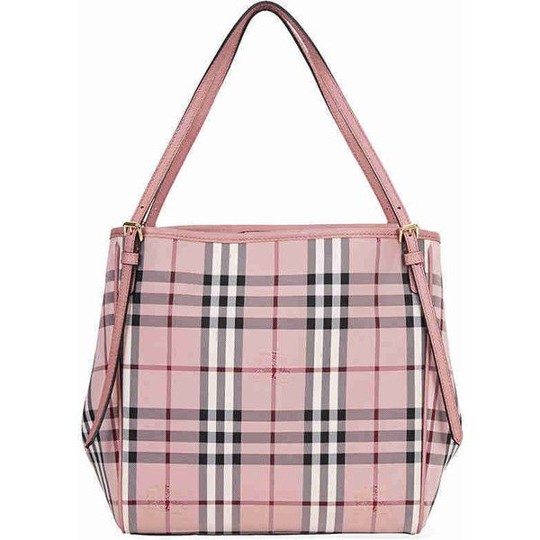 3d583c8a4b06 Burberry Small Canter Horseferry Check Tote - Ash Rose   Dusty Pink ( 795)  ❤ liked on Polyvore featuring bags