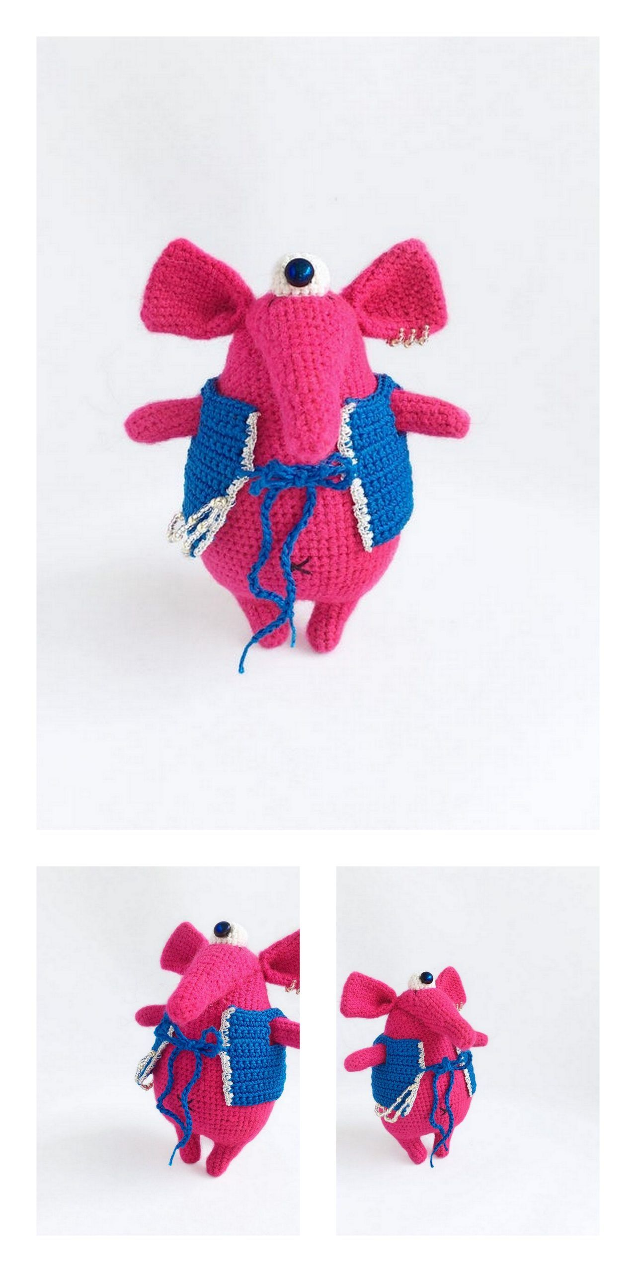 Crochet Pattern Elephant Happy Amigurumi PDF Cute Grey Mint ... | 2560x1280