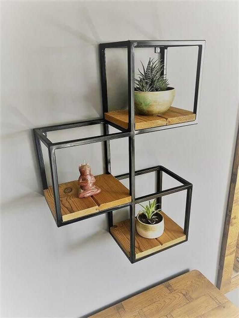Industrial Geometric Shelf - Tetra | Industrial Shelving Unit 3D shelving Industrial shelves