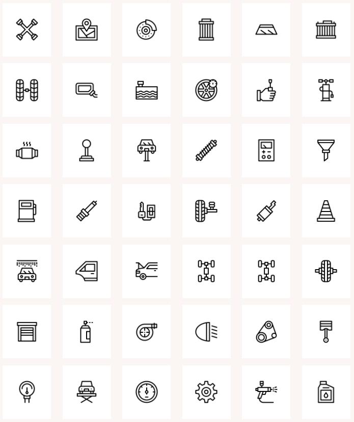 Free Car Garage Icons