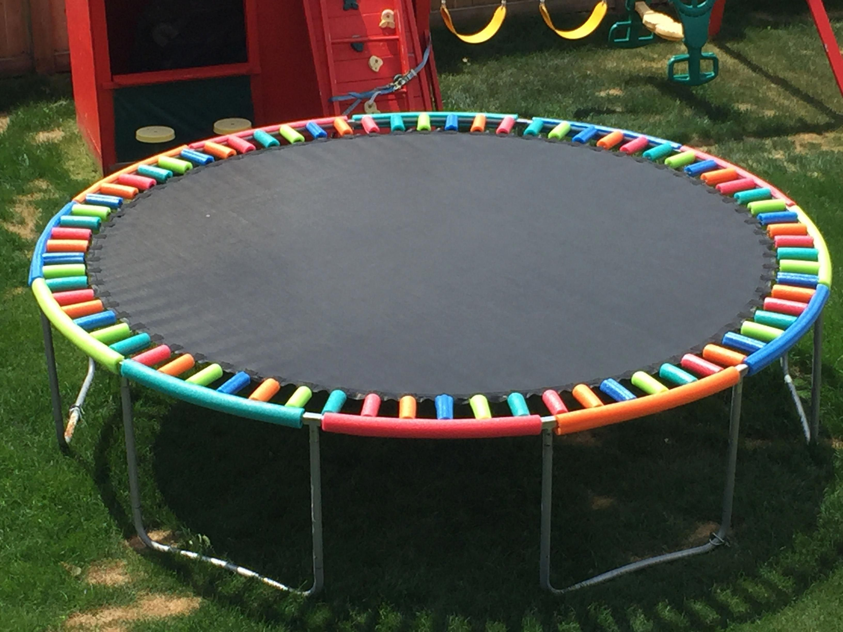 Diy Pool Noodle Safety Hack For Springs On Trampoline Backyardtrampolinechildren Backyardtrampolineslee Backyard Playground Backyard Trampoline Diy Backyard