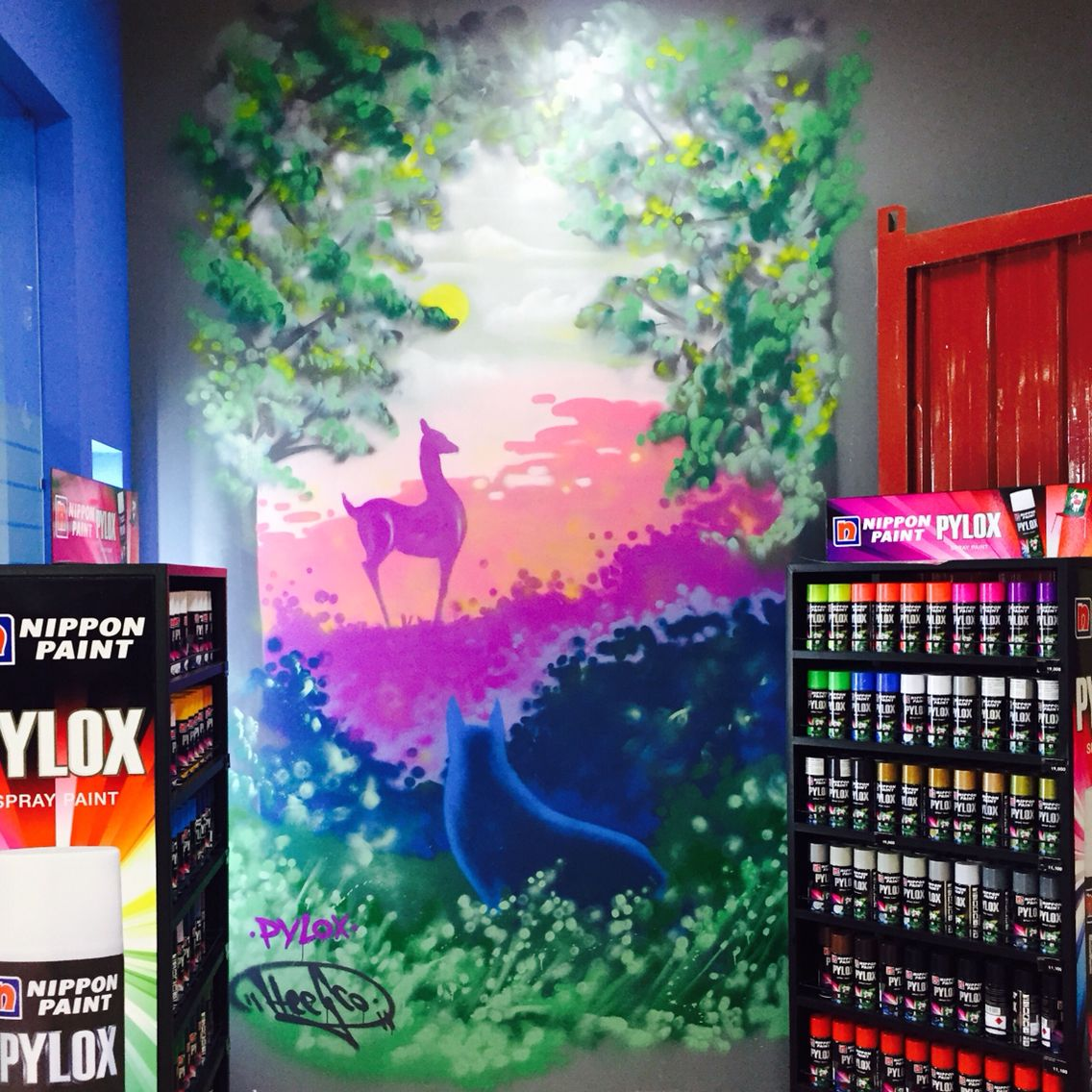 Wall Decoration By Pylox Spray Paint Diy Project Home Fix