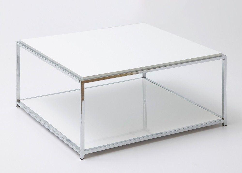 Wohnzimmertisch Metall ~ Couchtisch weiß hochglanz isa i wohnzimmertisch mit chromgestell