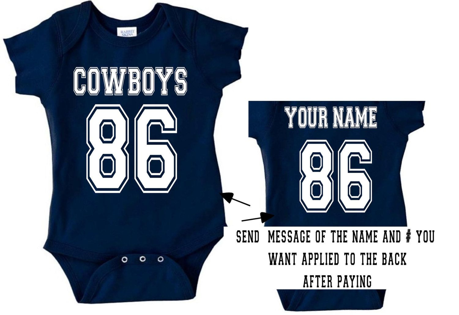 189f507fa v cowboys baby jersey customized personalized by SweetRosyCheeks ...