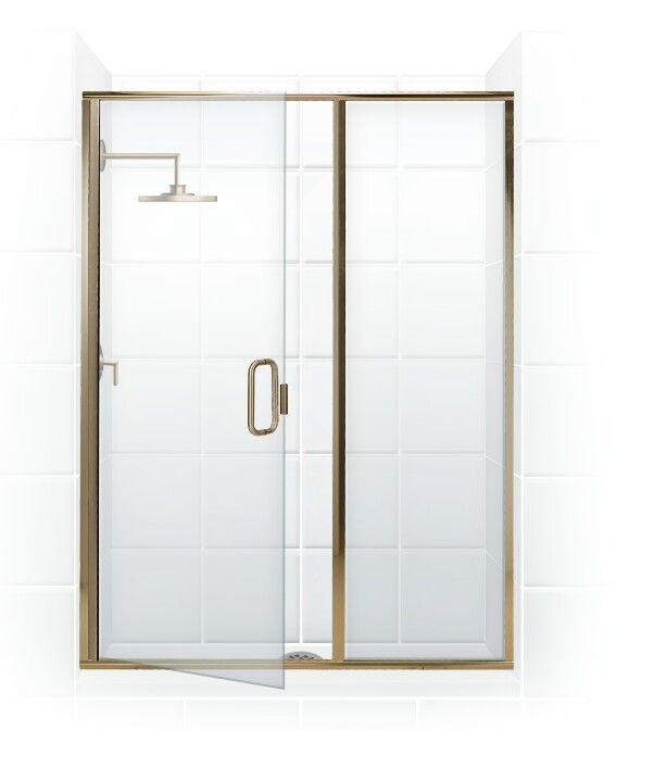Paragon Series Semi Frameless Shower Door With Through Glass C Pull Handle Swing Door In Semi Frameless Shower Doors Framed Shower Enclosures Framed Shower