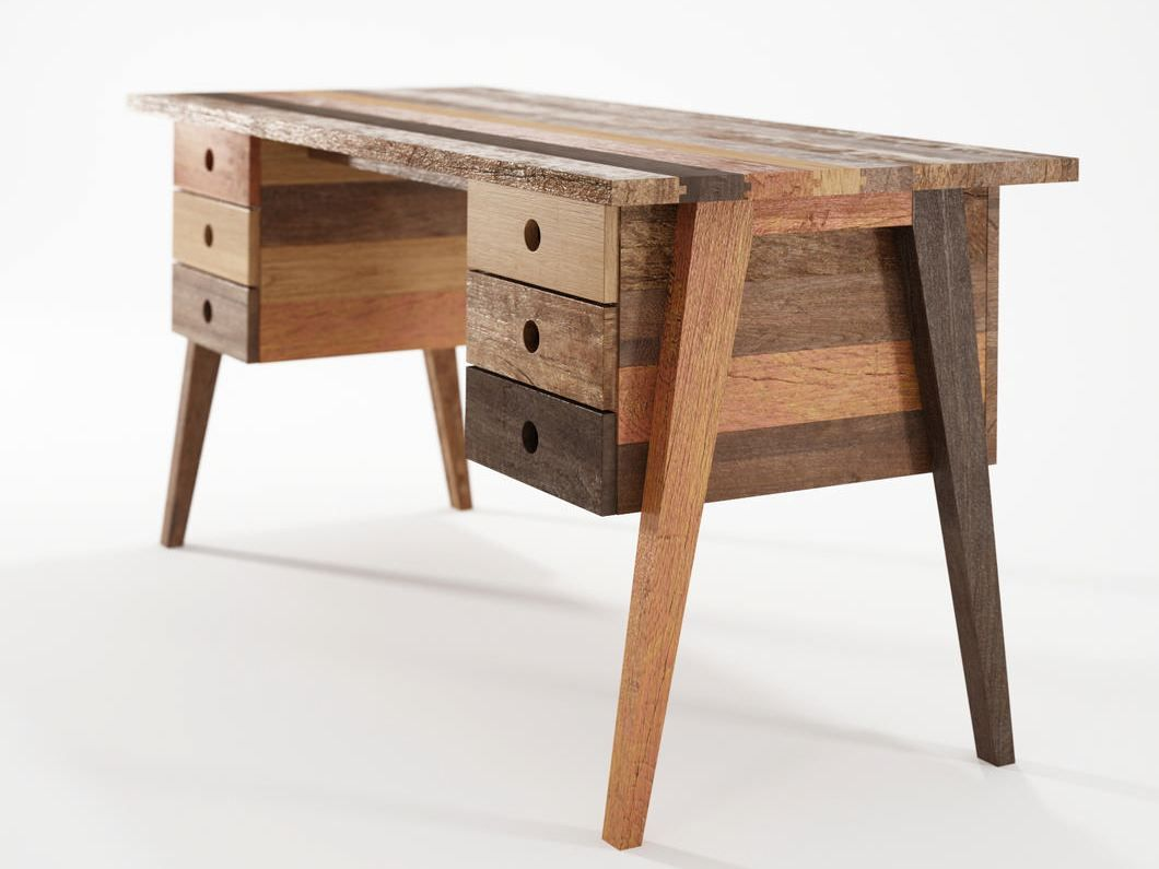 Reclaimed wood desk - Reclaimed Wood Desk With Drawers - Google Search Standup Desks