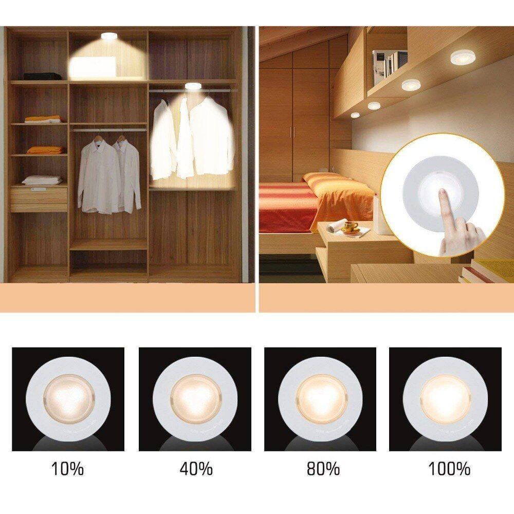 Btgeuse Wireless Led Puck Lights Kitchen Under Cabinet Lighting