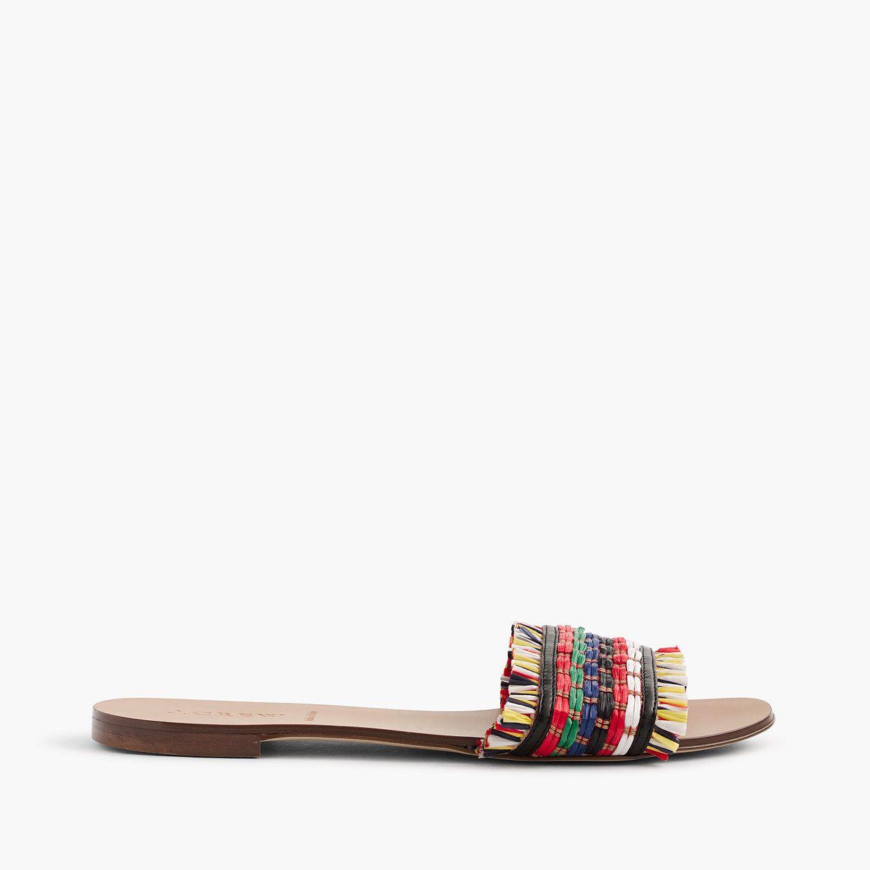 68304eb29 J.Crew Womens Raffia Slide Sandals (Size 6 M)